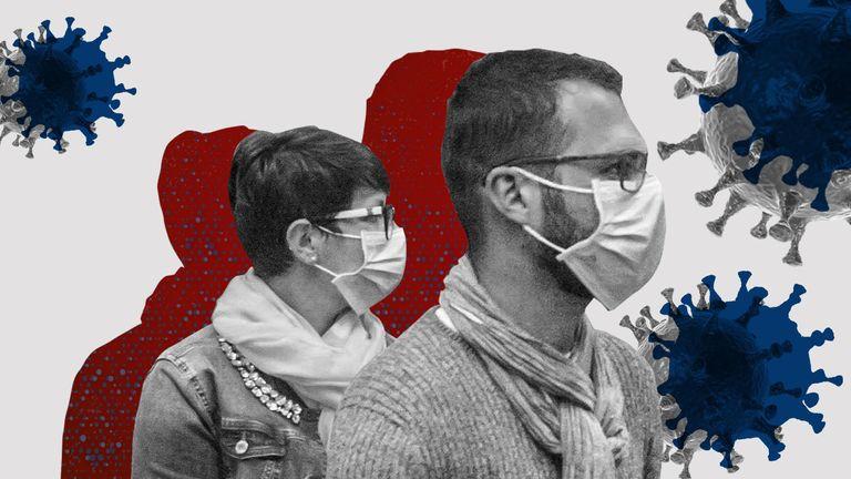 GFX - coronavirus, mask