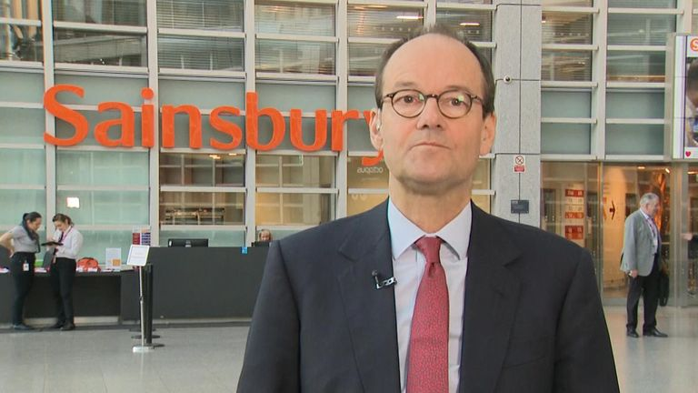 Mike Coupe, chief executive of Sainsbury's