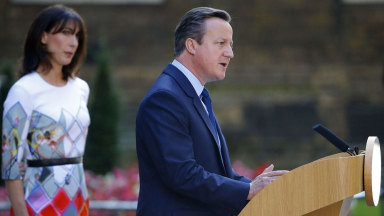 David Cameron  campaigned for Remain in the EU referendum