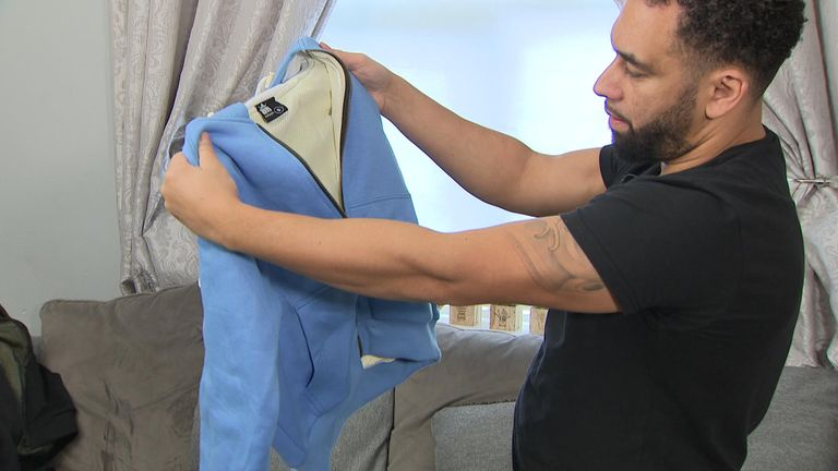 Dean Dawe designs clothing lined with Kevlar to protect against knives