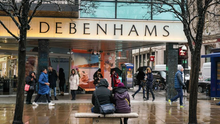 Debenhams has said it is closing 19 of its stores