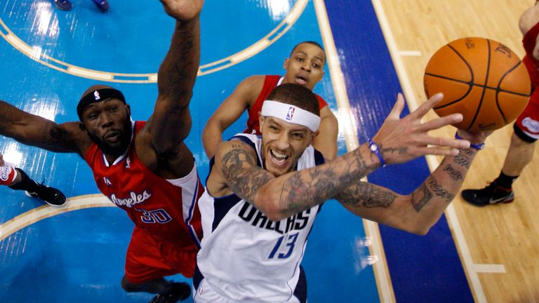 Delonte West (r) in his pomp playing for the Dallas Mavericks in 2012
