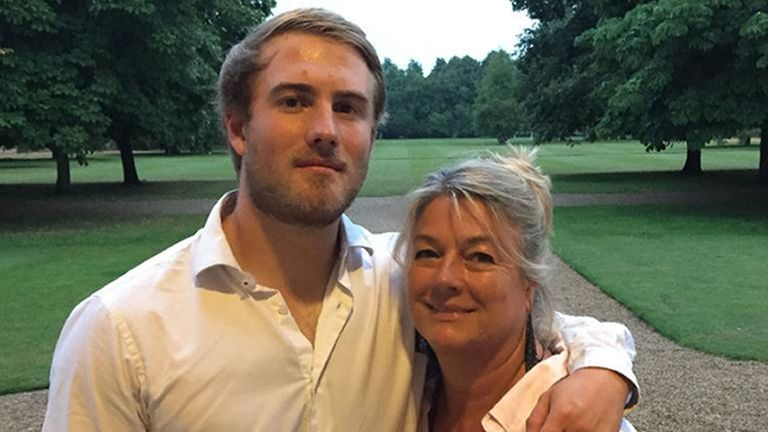 Dominic Hamlyn pictured with his mother Geraldine