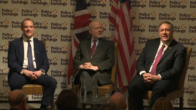 Mike Pompeo and Dominic Raab were asked whether there could be a barter for the royal and the suspect in the killing of Harry Dunn.