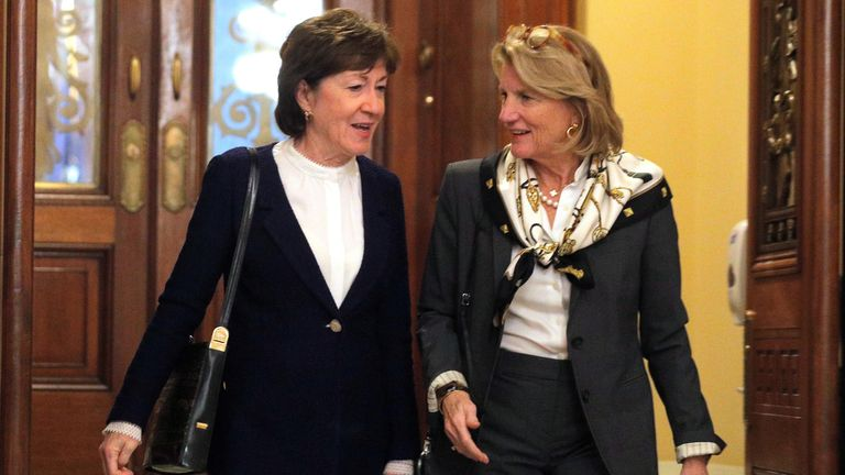 Senator Susan Collins (L) was one of only two Republicans who broke with their party and voted with Democrats