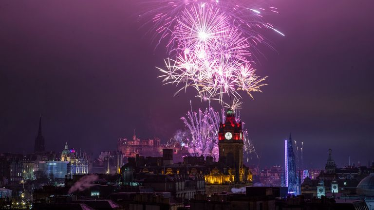 Edinburgh looked enchanting as its firework show began at midnight