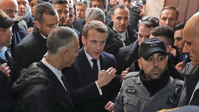 "Mr Macron said ""I don't like what you did in front of me"" as he told security to leave"