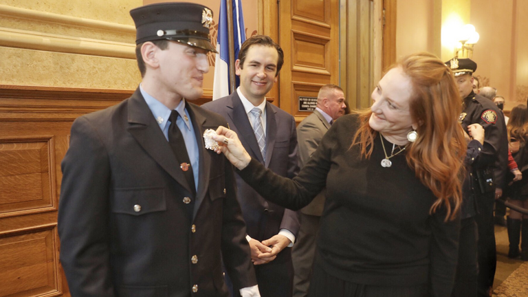 Patti Scialfa posted on Instagram in August that she was proud of her son's brave heart. Twitter: Steven Fulop