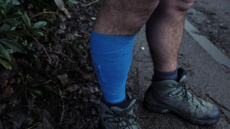 Mick says a calf injury set him back a week