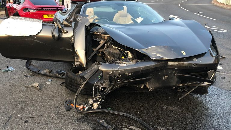 The driver of the grey Ferrari 458 was given a suspended sentence