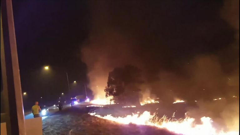 A 20-year-old man was later arrested and charged with lighting a fire during a total fire ban. No property was damaged.
