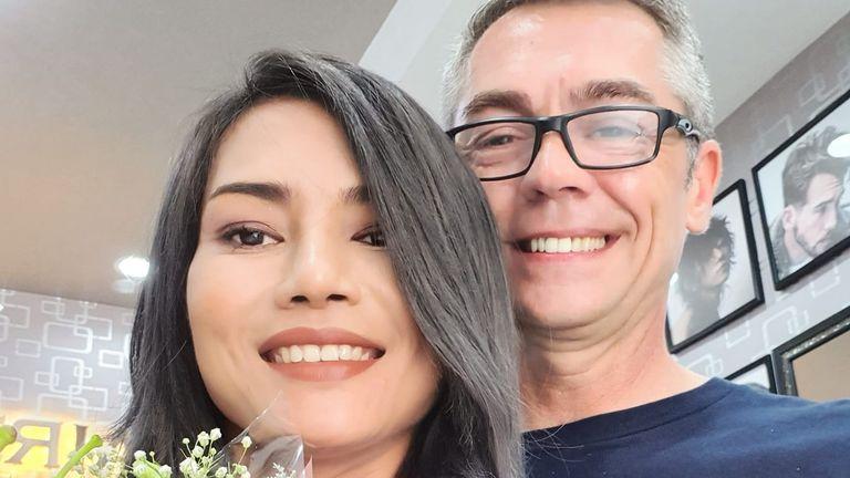 Mr McLaren and his fiance Jasmine. Pic: Facebook/Jasmine Gmc