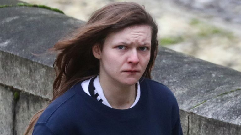Gemma Watts arrives at Winchester Crown Court to be sentenced