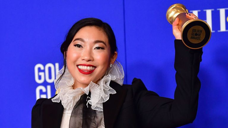 Golden Globes best actress (musical or comedy) winner Awkwafina