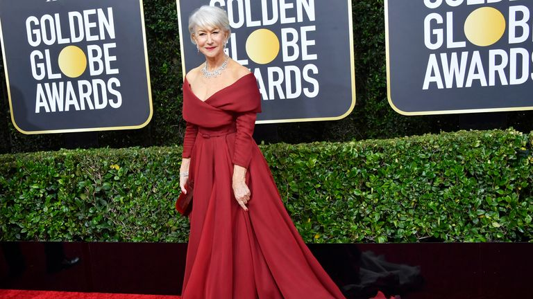 Helen Mirren at the Golden Globes 2020