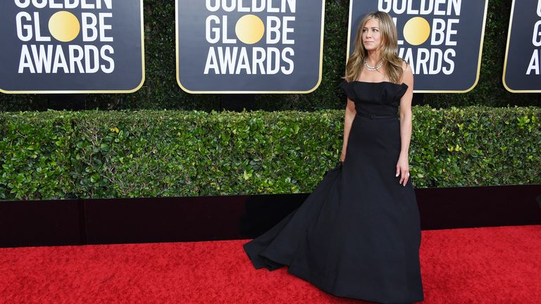 Jennifer Aniston at the Golden Globes 2020
