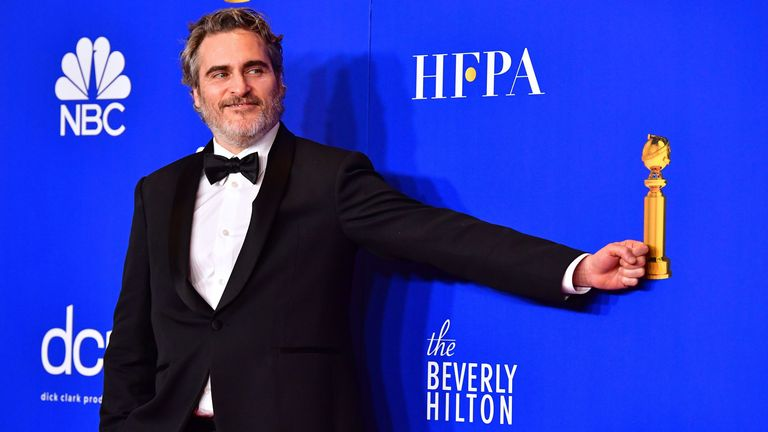 Golden Globes best actor (drama) Joaquin Phoenix