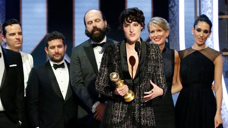 Fleabag and Phoebe Waller-Bridge win at the Golden Globes 2020