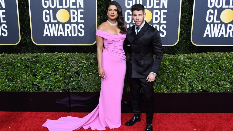 Priyanka Chopra and Nick Jonas at the Golden Globes 2020