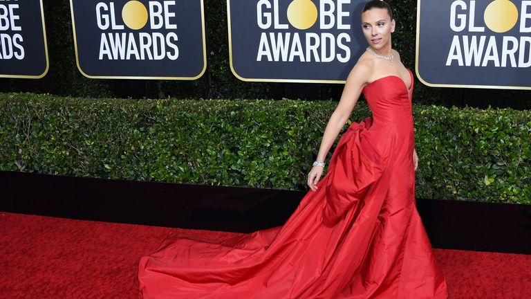 Golden Globes 2020 - Scarlett Johansson on the red carpet