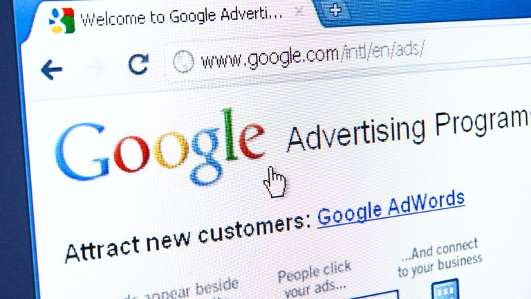 Izmir, Turkey - March 27, 2011: Close up of Google Advertising Program main page on the web browser. It allows users to buy advertising on the Google search engine or on other sites through its AdWords and AdSense programs.