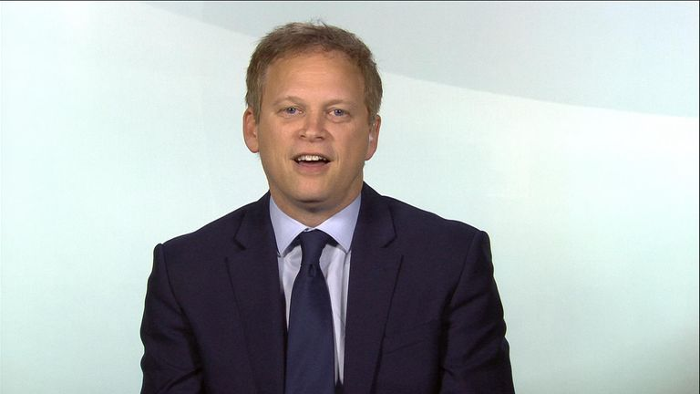 "Transport Secretary Grant Shapps said Northern Rail had ""failed to meet the needs of passengers""."