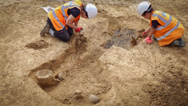 The burial site was found near Chichester