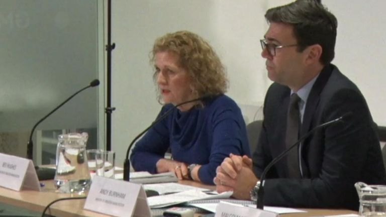 Baroness Beverley Hughes and Andy Burnham