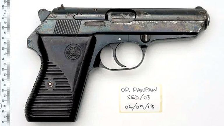 The gun used in the murders of Tanesha Melbourne-Blake and Joseph Williams-Torres