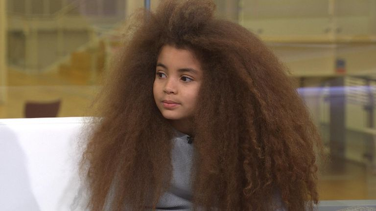 The mother of Farouk James, a child model with luscious locks, is looking at changing his gender to non-binary to get around hair rules at secondary school