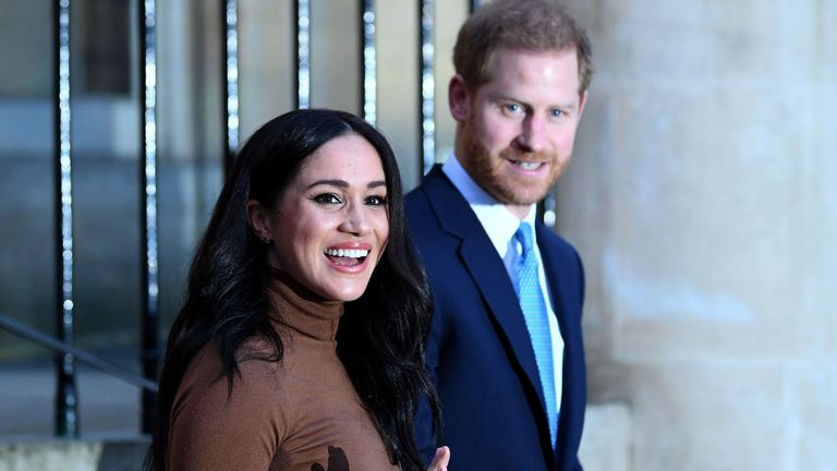 Harry and Meghan at Canada House