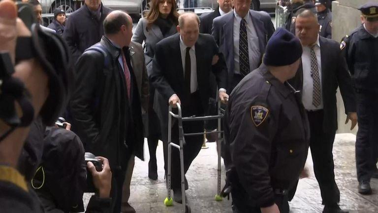 Harvey Weinstein arrives