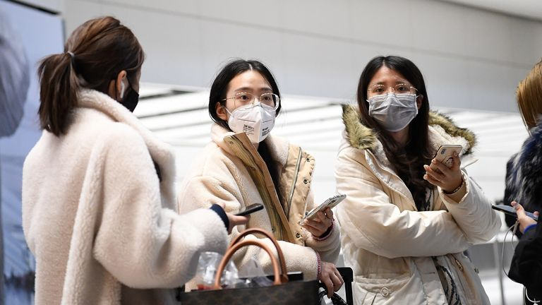 Face masks are becoming a more common sight at Heathrow airport