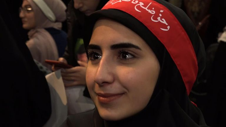 Noor Husseini, a student and Hezbollah loyalist, has said the party's supporters are ready for war