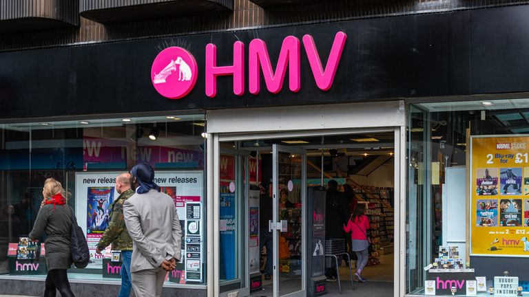 HMV is closing down stores in the coming weeks. File pic