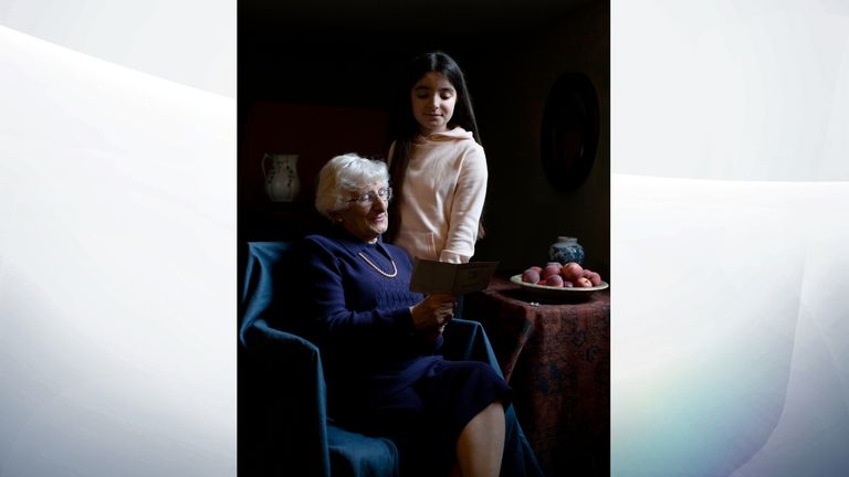 Yvonne Bernstein, originally from Germany, who was a hidden child in France throughout most of the Holocaust, pictured with her granddaughter Chloe Wright, aged 11. PA Photo. Issue date: Sunday January 26, 2020. See PA story MEMORIAL Holocaust. Photo credit should read: The Duchess of Cambridge/PA Wire