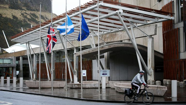 File photo dated 23/03/17 of Scottish Parliament building in Holyrood, Edinburgh