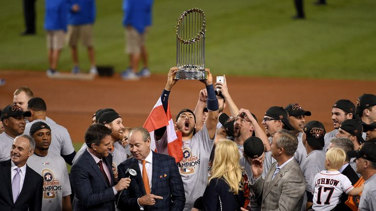 The Astros won the World Series title in 2017