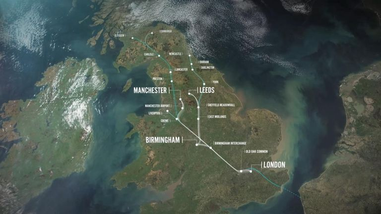 HS2 will go from London to Birmingham