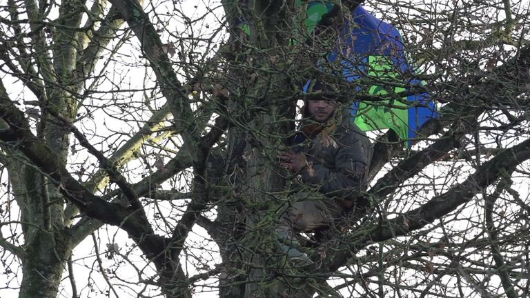Freeman stayed in a tree for nearly three days before he was taken down then sent to hospital with hyperthermia