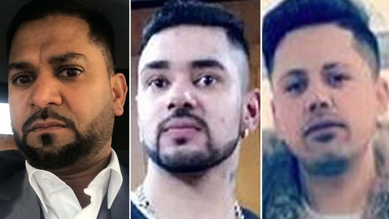 Malkit Singh Dhillon, Narinder Singh Lubhaya, and Harinder Kumar have been named as the three men who died after being stabbed Sunday evening  in Ilford, east London.
