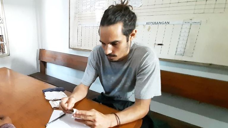 Mr Jacobson is being detained at Palangkaraya State Prison. Twitter: Andreas Harsono