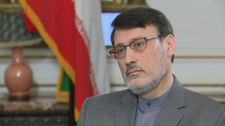 The Iranian ambassador to the UK has told Sky News he is confident the Iranian military was not responsible for bringing down the Ukrainian plane