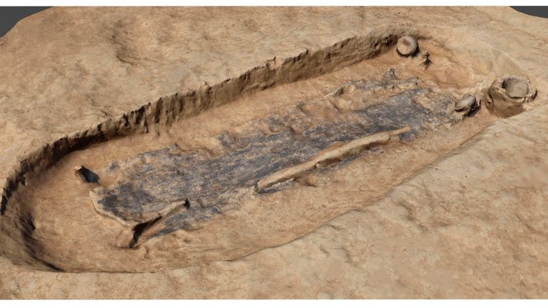 The grave is believed to be around 2,000 years old