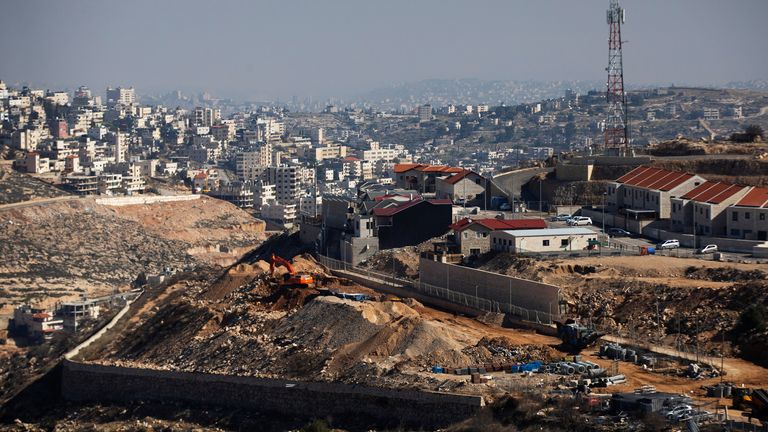 Israeli settlement built in occupied West Bank