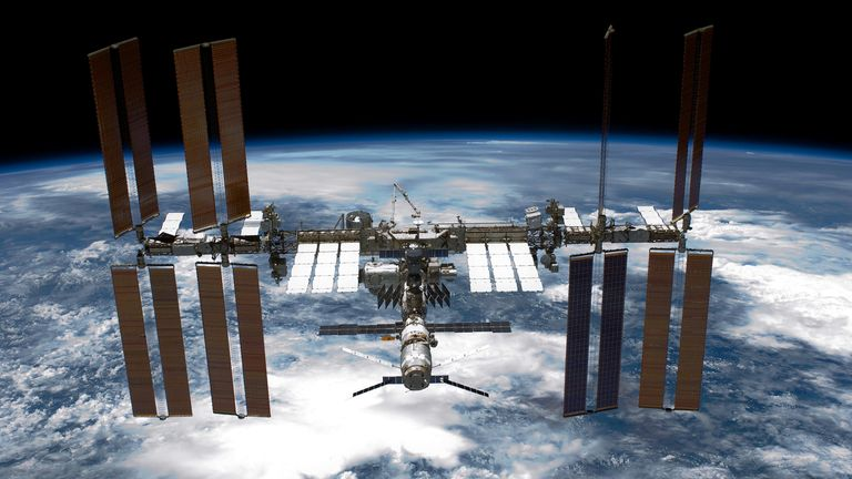 The ISS - as seen from the space shuttle Endeavour. Pic: NASA