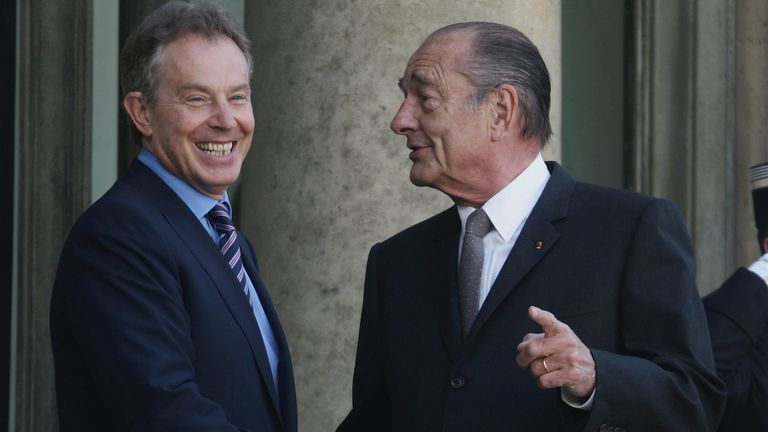 Jacques Chirac, right, was against Tony Blair's decision to go to war with the US