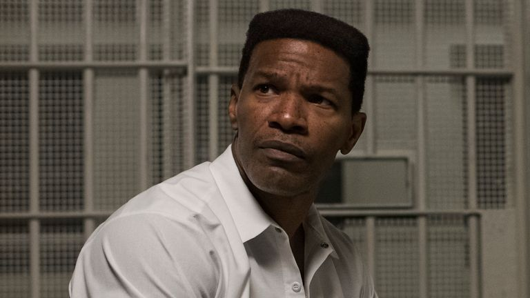 Jamie Foxx as Walter McMillian in Just Mercy. Pic: Warner Bros Entertainment Inc