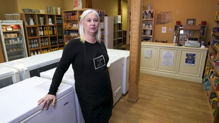 Jane Patterson runs The Taste of Britain store in Eymet
