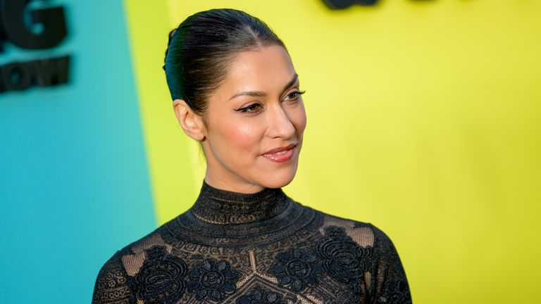 "Janina Gavankar attends Apple TV+'s ""The Morning Show"" world premiere at David Geffen Hall on October 28, 2019 in New York City"